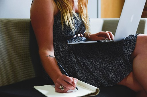 Woman Working on her Start-Up